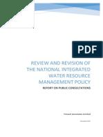 Report on NIWRMP Public Consultations