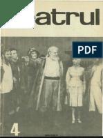 Revista Teatrul, nr. 4, anul X, aprilie 1965