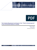 """The Funding Requirement and Impact of the """"Truth in Sentencing Act"""" on the Correctional System in Canada (June 2010)"""