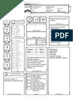 Character Sheet - Arturis