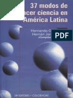 37 Modos de Hacer Ciencia en America Latina