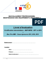Livret d'Évaluation Bac Pro MEI - Version Word 2003