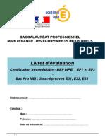Livret d'Évaluation Bac Pro MEI - Version Word 2003