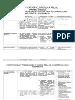 Diversificación Curricular Anual III