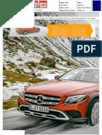 Auto Foco Mercedes E All Terrain | Ensaio na revista Auto Foco
