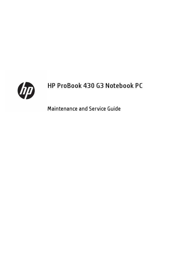 hp probook 430 g3 notebook pc maintenance and service guide rh scribd com maintenance and service guide hp maintenance and service guide hp