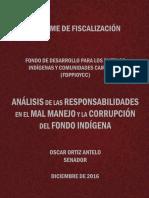 Investigación y Fiscalización Técnica al Fondo Indígena