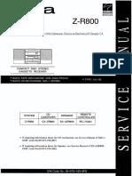 Aiwa CX-ZR800 (Compact Disc Stereo Cassette Receiver) Manual de Servicio