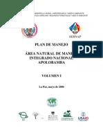 Plan de Manejo Apolobamba