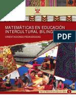 Matemáticas en educación intercultural bilingüe