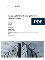 Scaling Agile Methods for Department of Defense Programs