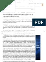 Uma Breve Análise Do _Discurso Sobre as Ciências_ de Boaventura de Sousa Santos - Doutrinas UJ