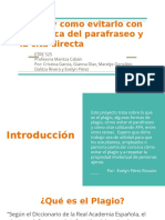 Plagio y Como Evitarlo Con La Técnica Del Parafraseo y La Cita Directa