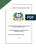 Monografia De Inspecciones de Seguridad y Salud en El Trabajo en Las Dependencias Del Ejercito