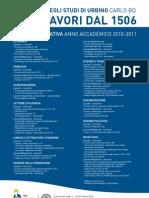 Manifesto Offerta Formativa - 2010/2011
