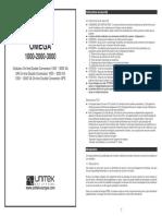 Manual Omega1000 3000t Eng Esp Fra
