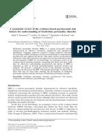 Keinänes Et Al (2012). Factors for Understanding of Personality Disorder