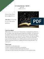 21st century literature syllabus