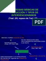 Estrategias Traducción Tipos Intervencionismos