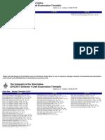 UWI Exam Draft Timetable 2016 2017 Sem1