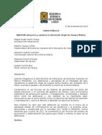 CARTA PÚBLICA DETENCIÓN ILEGAL DE SUSANA MOLINA