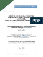 Memoire Sur Les Competences FAD Mars 09