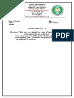 G11 Worksheet 3