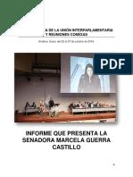 13-12-16 Informe Senadora Marcela Guerra 135° Asamblea UIP Ginebra