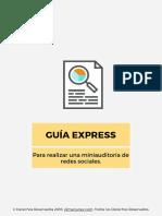 GUIA EXPRESS Para realizar una miniauditoría de redes sociales..pdf