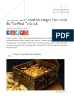 10 Unsolved Coded Messages You Could Be the First to Crack