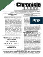 Chronicle Monday - June 2, 2008