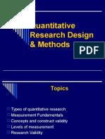 Quantitative Research Design and Methods