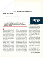 The  geometric  theory  of selection  of artificial teeth