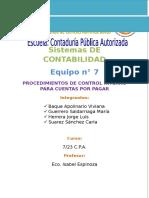Procedimiento de Control Interno de Las Cuentas Por Pagar