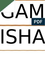 Gamisha Final