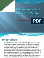 MECANISMO DE LA COHESIÓN TEXTUAL