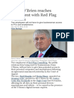 Denis O'Brien Reaches Agreement With Red Flag Workers