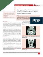 Hypoglossal Nerve Schwannoma in the Submandibular Region