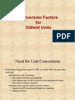 Oil Field Conversion