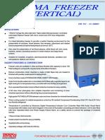 Plasma Freezer - Manufacturer - Supplier - Tanco Lab Products
