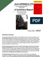 Accord Inspection Report – Ashulia Apparels Ltd