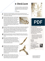 Sandcastle Necklace Jewelry Making Tutorial from Ornamentea.com