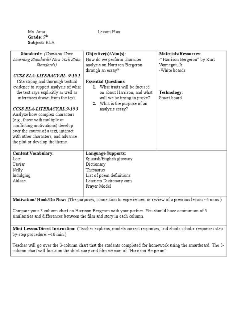 harrison bergeron essay compare the epic Home / comparison essay block student essay 2081 and harrison bergeron compare and contrast essay ben lifson essays vs evil in beowulf essay epic hero 5.