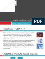 Challenges in Injectables (Contract) Manufacturing