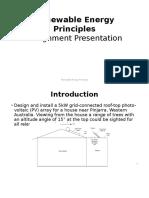 Renewable Energy Principles (ELEN 6013)