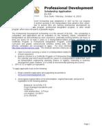 2010 Professional Development Application