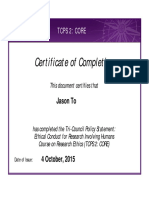 tcps2 core certificate  1