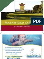 Bognor Regis Club Brochure 2010