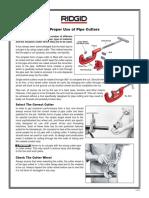 Proper Use of Pipe Cutters