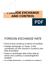 Foreign Exchange and Control